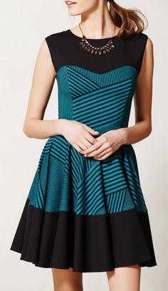 Stripe Swing Dress Anthropologie