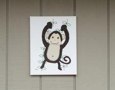 Monkey #1 Fabric Wall Art by CottonwoodCove on Etsy