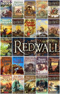 Redwall Series by Brian Jacques my favorite series of all time