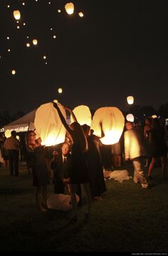 Sky Lantern Launch - Remnant Fellowship Church - Wesley Henry  Jaclyn Smith