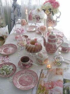 Shabby but Chic ECLECTIC Tea Party Place Setting