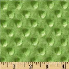 Minky Cuddle Dimple Dot Dark Lime - Fabric Central has TONS of Minky fabric!! Love!! pamalama_jo