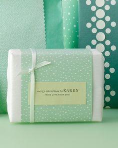 Typewritten Gift Tags