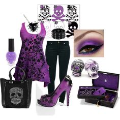 Feeling Skully, created by sweetlikecandycane on Polyvore