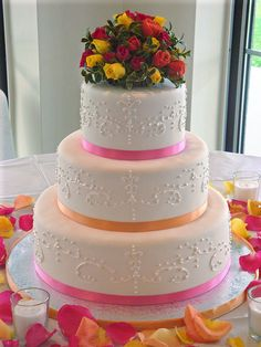 This Is My 4th Wedding Cake I Think Free Handed The