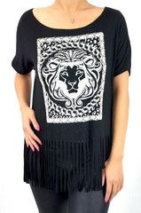Glittered Lion Fringe Top | Fashion Q 1982