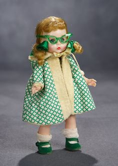 Lot: Alexander-Kins in Beach Outfit with Unique Green Sunglasses, 1956 Antique Dolls, Vintage Dolls, Feather Art, Madame Alexander Dolls, Miniature Dolls, Paper Dolls, American Girl, Doll Clothes, March