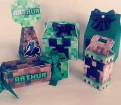 Kit Minecraft Creeper Minecraft, Minecraft Party, Creepers, Gabriel, 1, Gift Wrapping, Party Ideas, Kids, Crafts