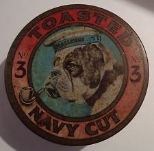 Toasted no 3 Navy Cut vintage tobacco tin