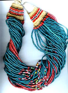Twisted beaded necklace...