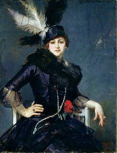 Jacques-Émile Blanche (French, 1861-1942) - Portrait of Gilda Darthy - Musee des Beaux-Ats, Rouen, France.