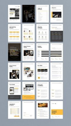 How To Start A Business Discover Modern and edgy business proposal brochure with minimalist layouts and bold graphic style. Perfect as a portfolio look book or other marketing presentation. Coperate Design, Page Layout Design, Magazine Layout Design, Magazine Layouts, Vector Design, Cover Design, Design Ideas, Brochure Indesign, Brochure Layout