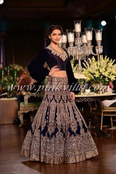 Royal blue!! Wedding lengha!