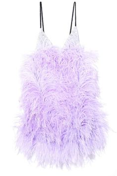 -- Attico Sequin and Feather Mini Slip Dress in Lilac -- only always Kpop Fashion Outfits, Stage Outfits, Fashion Tips, Feather Dress, Mini Slip Dress, Lilac Dress, Spaghetti Strap Dresses, Ladies Dress Design, Violet
