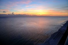 #Sunset over the Gulf of Mexico in Panama City Beach, Florida