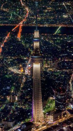 Tokyo night view with the SkyTree, Japan 東京夜景 | Takahiro Toh