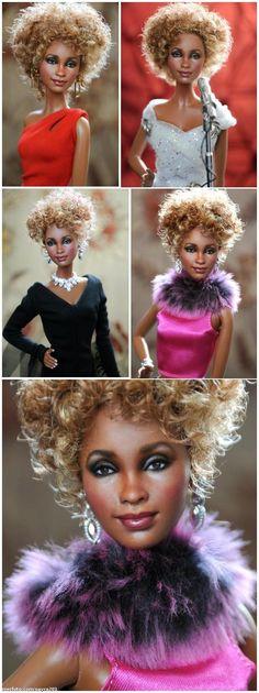 Whitney Houston (Repainted Barbie) by Noel Cruz