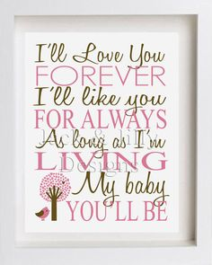 I was going to paint this quote for Veda's room but this is WAY cuter then I would have been able to do! Ordering tonight!