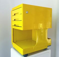 Rare yellow Neolt Style by italian designer Giovanni Pelis mid Multi… Other Space, Space Age, Office Organization, Filing Cabinet, Modern Contemporary, Mid Century, The Unit, Kid, Etsy
