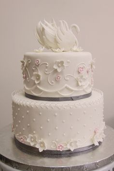 Swan Wedding Cake on Cake Central