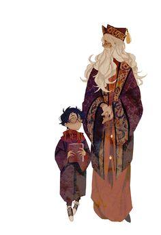 Harry Potter and Professor Dumbledore Fanart Harry Potter, Mundo Harry Potter, Harry Potter Love, Harry Potter Characters, Harry Potter Universal, Harry Potter Fandom, Harry Potter World, Hogwarts, Character Art