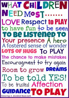 children+helping+quotes | What Children Need the Most- free printable