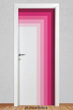 Painted Bedroom Doors, Painted Closet, Painted Doors, Door Design Interior, Home Room Design, House Design, Girls Bedroom Colors, Bedroom Decor For Teen Girls, Internal Doors Modern