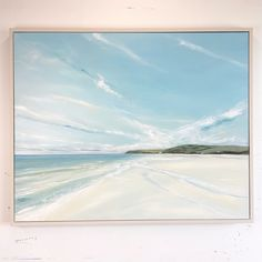 Croyde Bay, original oil painting on canvas, 80x100cm Oil Painting On Canvas, Still Life, Landscapes, Waves, Birds, Outdoor, Paisajes, Outdoors, Scenery
