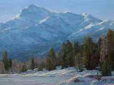 Cold and Icy by Jean LeGassick Oil ~ 9 x 12
