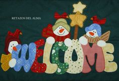 Christmas Crafts, Xmas, Christmas Ornaments, Christmas Paintings, Applique Patterns, Snowman, Santa, Quilts, Holiday Decor