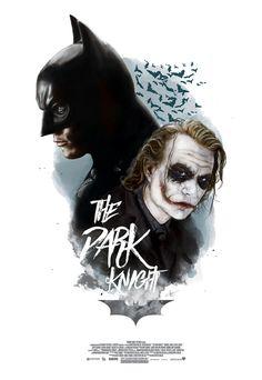 The Dark Knight - Batman - Joker - Heath Ledger - DC Comics - By Alberto Reyes Batman Wallpaper, Dark Knight Wallpaper, Batman Artwork, The Dark Knight Trilogy, Batman The Dark Knight, Batman Vs, The Dark Knight Poster, Der Joker, Joker Art