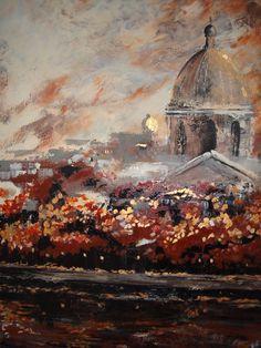 "http://chalang.wordpress.com .""Paris""mix media 70 x 90cm by Chantal Lang"