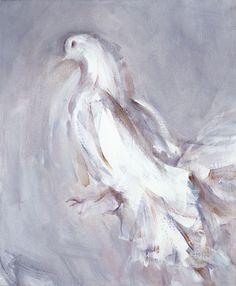 Fantail Pigeon, 1984 oil on canvas_Louis Le Brocquy Fantail Pigeon, Sean Scully, Irish Painters, Hummingbird Painting, Irish Art, Artwork Images, Art History, Illustrators, Oil On Canvas