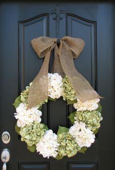 Spring Summer Wreath, XL Hydrangea Wreath, Summer Decorations, Summer Wreaths, Etsy Wreaths, Spring Hydrangeas, Spring Home Decor by twoinspireyou on Etsy https://www.etsy.com/listing/111468175/spring-summer-wreath-xl-hydrangea-wreath