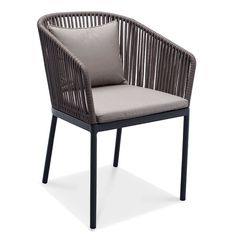 Spaghetti Dining Arm Chair With Strap Outdoor Dining, Outdoor Chairs, Outdoor Decor, Furniture Plans, Furniture Design, Balcony Furniture, Outdoor Restaurant, Restaurant Exterior, Modern Outdoor Furniture