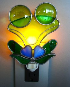 Mr Frog Stained Glass Night Light