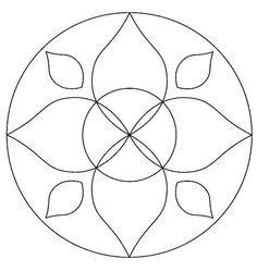 Maestra de Infantil: Mandalas para colorear. Mandalas de profesiones. Stained Glass Flowers, Faux Stained Glass, Stained Glass Patterns, Mosaic Patterns, Beading Patterns, Hand Quilting Patterns, Quilting Stencils, Doodle Patterns, Mandala Drawing