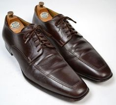 SANTONI Brown Stitched Toe DERBY Oxford Dress Shoes Mens 11 / 12 D #Santoni #Oxfords #shoes #tailoredconsignment