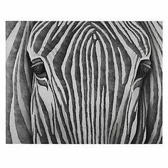 Silver Zebra | Canvas | Z Gallerie
