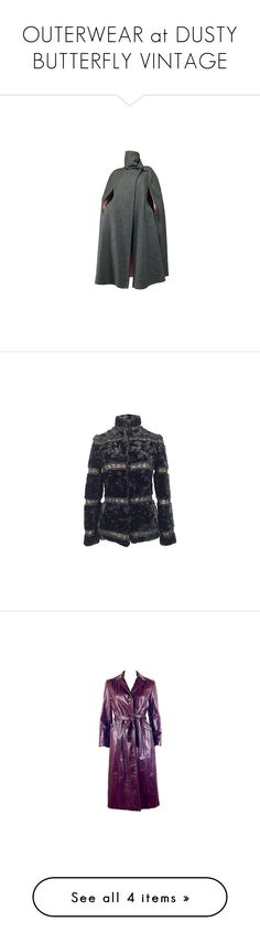 """""""OUTERWEAR at DUSTY BUTTERFLY VINTAGE"""" by dustybutterflyvintage on Polyvore featuring outerwear, neck ties, woolen cape, wool cape coat, vintage neckties and neck-tie"""
