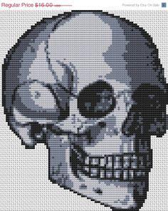 SALE Skull Cross Stitch 'Happy skull' cross stitch kit