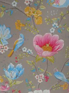 Chinese Garden Grey 341004 - Seinäruusu - Verkkokauppa