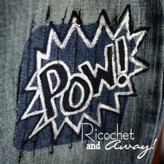 Ricochet and Away!: Painted Patches: A cool project for boys.