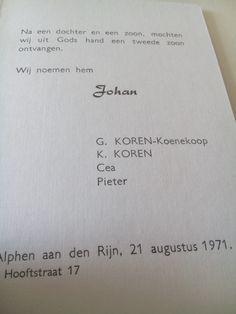 En hier is het bewijs, mijn geboortekaartje.