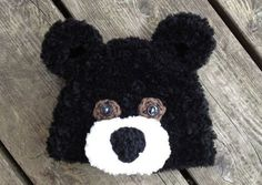 """Crochet Pattern for Fuzzy Bear Hat - 5 sizes- need to make these for the big girls and a goldilocks hat for the baby then I would have """" goldilocks and the 3 bears"""""""