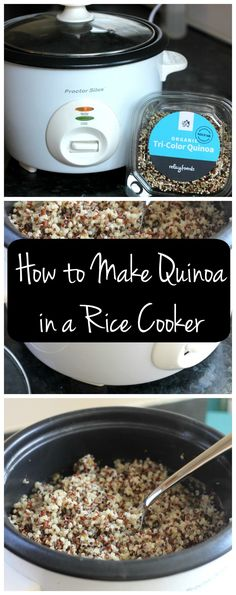 Did you know you can use your rice cooker for cooking quinoa? YES! Here's the simple way to make quinoa in your rice cooker!