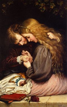 """""""The Thorn"""" by Cope Charles West, 1866 (detail)"""