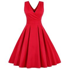 Retro Back Bowtie Sleeveless Midi Dress (85 RON) ❤ liked on Polyvore featuring dresses, calf length dresses, red sleeveless dress, red dress, red midi dress and mid calf dresses