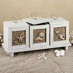 Sandy Beach Decorative Accent Box and Tray Set-love this, but not large enough to hold a tissue box, on sale $53.99.. would like to know how to make one. any comments /ideas??