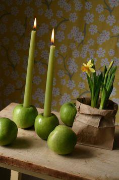 Maçã  verde - candelabro